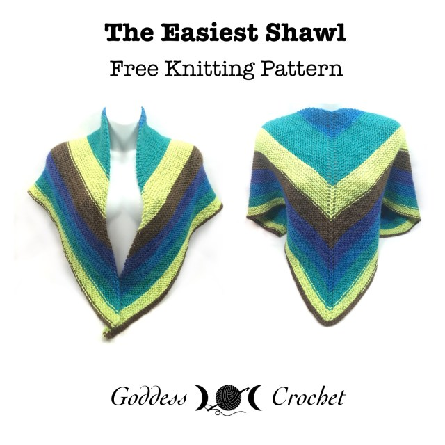 The Easiest Shawl - Free Knitting Pattern