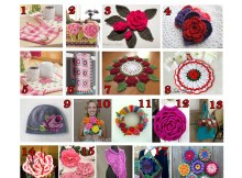 """Roses"" - Free Crochet Pattern Round Up"