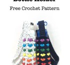 Rainbow Hearts Bottle Holder - Free Crochet Pattern
