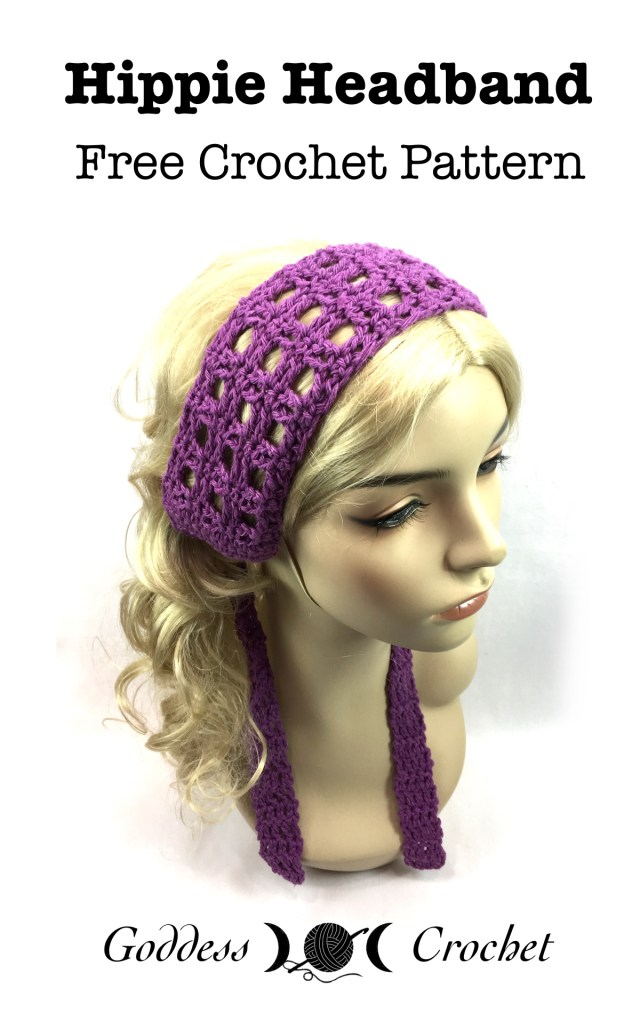 Hippie Headband Free Crochet Pattern Goddess Crochet