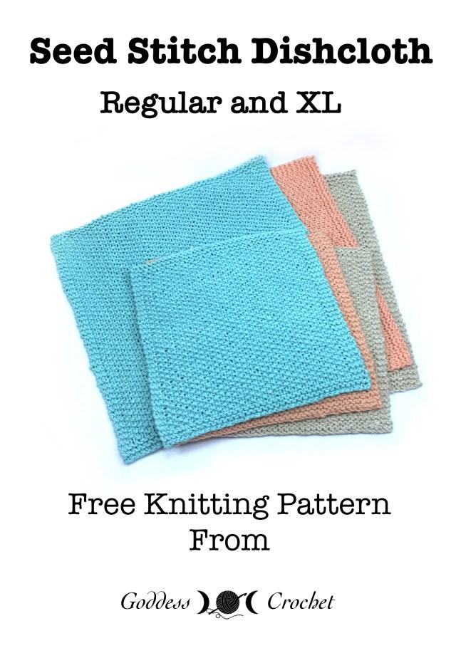 Seed Stitch Dishcloth - Free Knitting Pattern