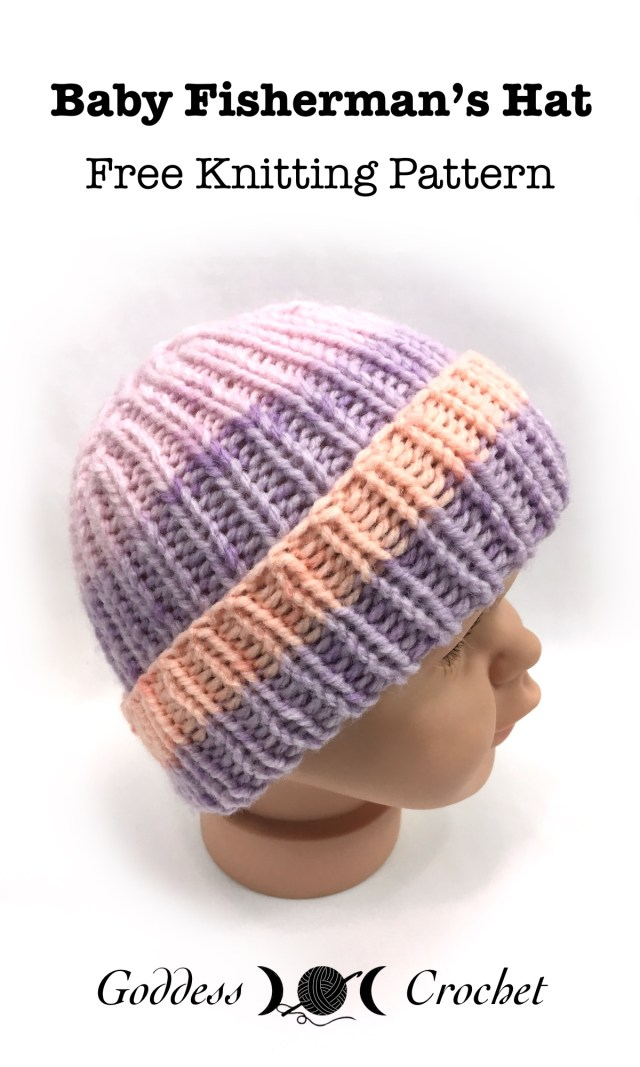 Baby Fisherman\'s Hat – Free Knitting Pattern – Goddess Crochet