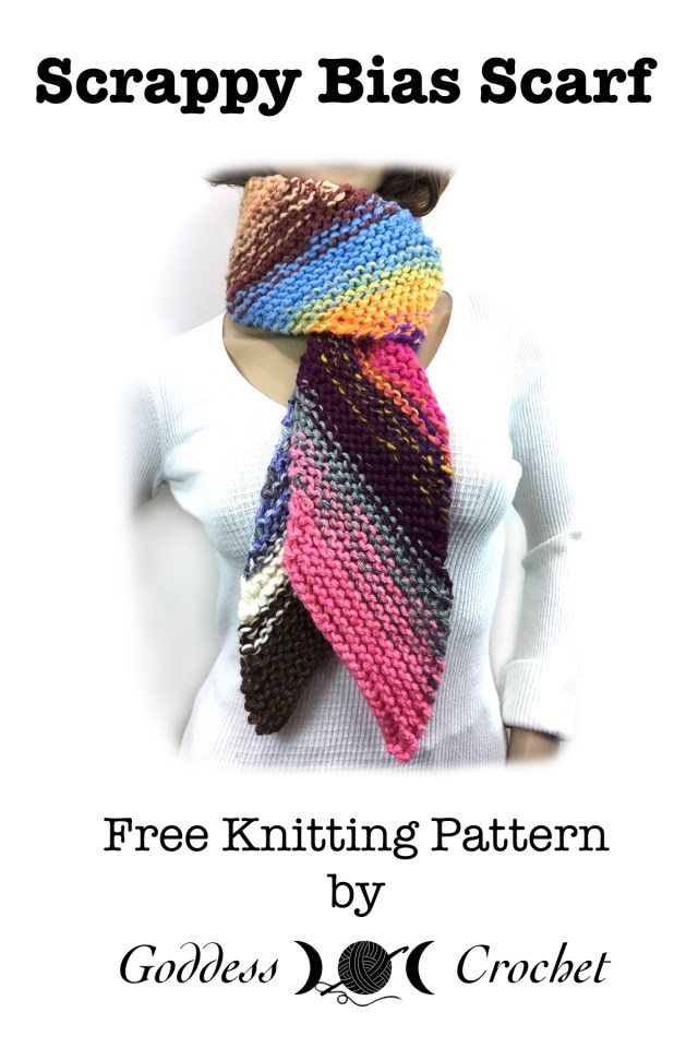 Scrappy Bias Scarf Free Knitting Pattern Goddess Crochet