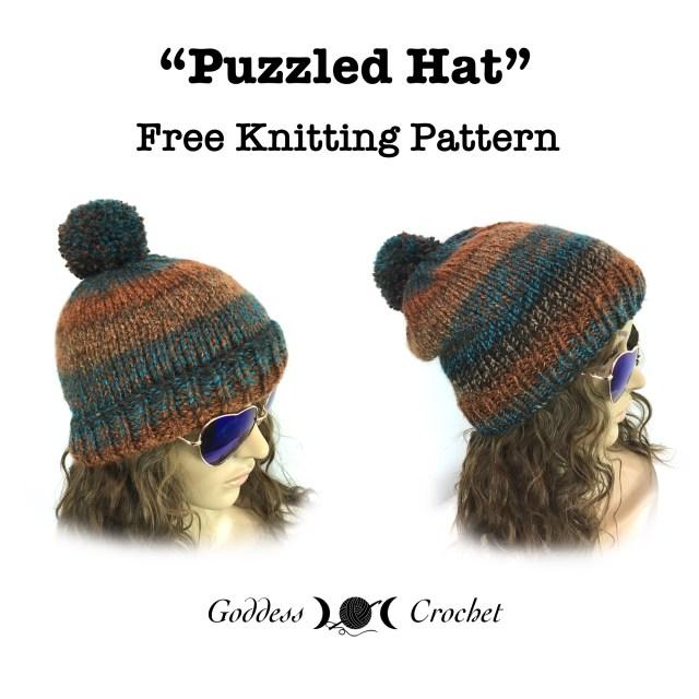 Puzzled Hat – Free Knitting Pattern – Goddess Crochet