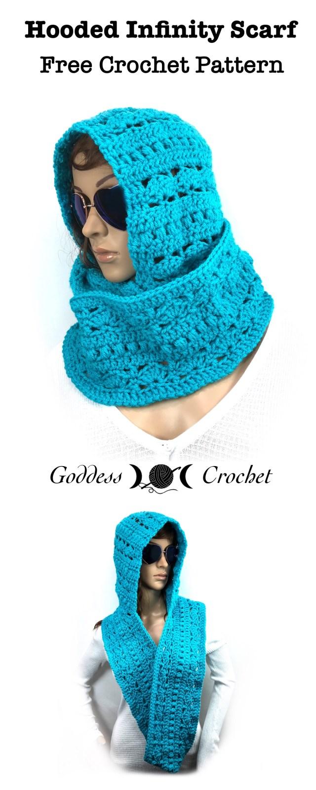 Hooded Infinity Scarf Free Crochet Pattern Goddess Crochet