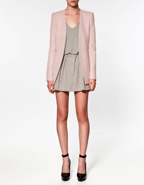 BLAZER in almond pink 99.95 EUR from Zara.