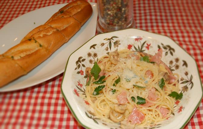 Spaghetti a la carbonnara