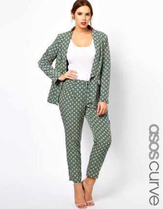 For Aphrodite Goddess types - ASOS CURVE Exclusive Trouser In Statement Geo €51.94