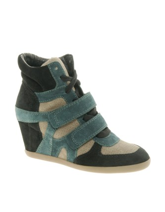 The key accessory are the wedge trainer. Women everywhere have fallen in love with thisoh so comfortable style, which adds a bit of extra height yet looks deceptively cool with jeans. These are by Ash but you will findthem in most stores.