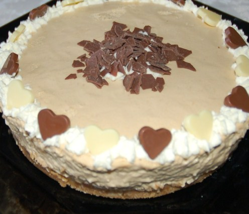 More simply decorated version of Baileys Cheesecake