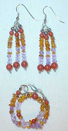 Beauty Earrings and Bracelet