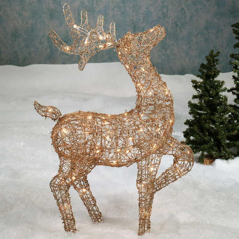 Outdoor Deer Decorations Christmas Lighted