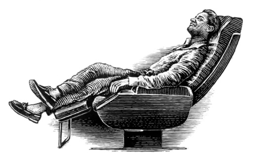 Man relaxing in a reclining chair