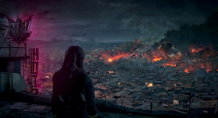 Image result for the lost legacy photos burning city
