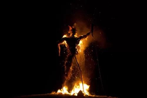 wickerman burning