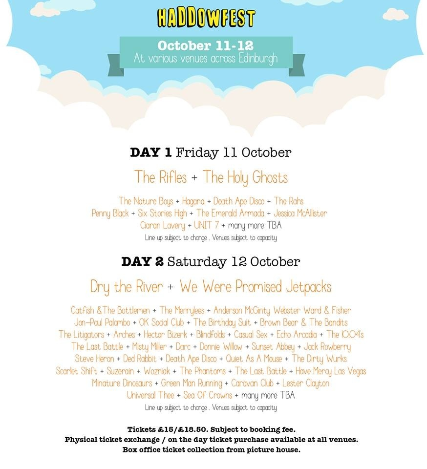 HADDOWFEST : Edinburgh 11th and 12th October 2013
