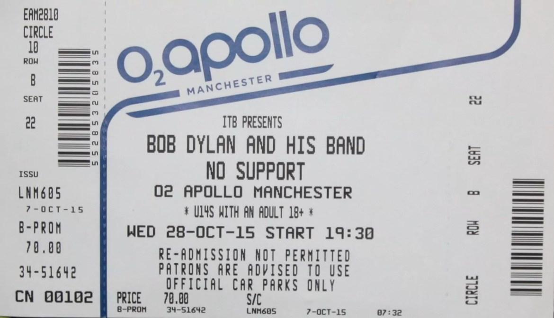 Bob Dylan – Manchester Apollo, 28th October 2015