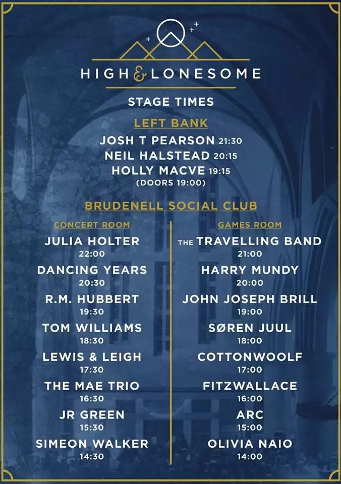 High & Lonesome Festival – Leeds, 14th November 2015