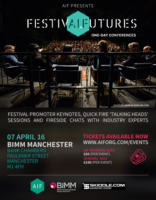 NEWS:  AIF Presents Festival Futures Conferences in Brighton & Manchester