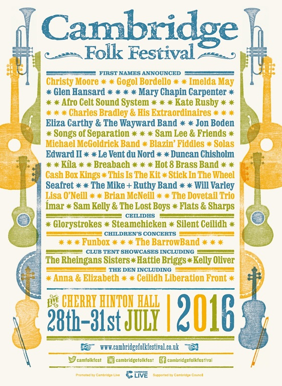 NEWS: Cambridge Folk Festival reveals its first acts for 2016