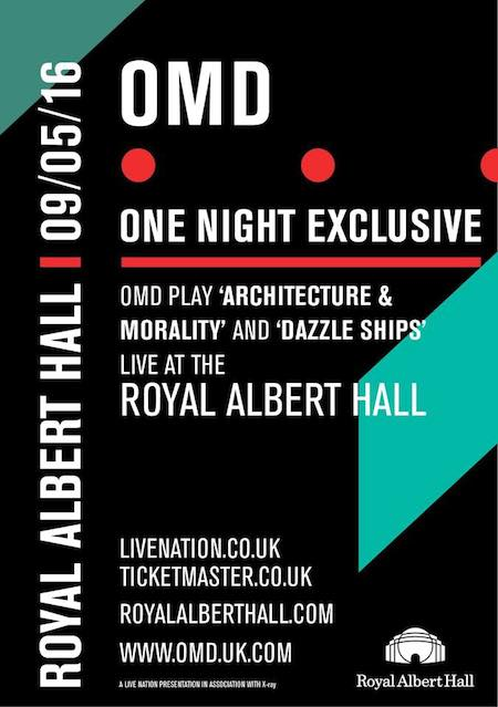 OMD – Architecture & Morality and Dazzle Ships Live – Royal Albert Hall, London 09/05/16