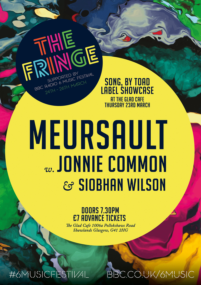 Meursault / Jonnie Common / Siobhan Wilson – BBC 6 Music Festival, The Glad Cafe, Glasgow, 23/03/2017