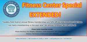 50% off fitness center special extended