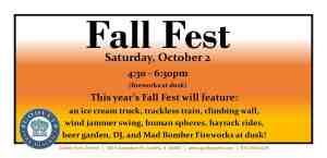 GPD Fall Fest to be held Oct. 2 from 4:30 to 6:30pm