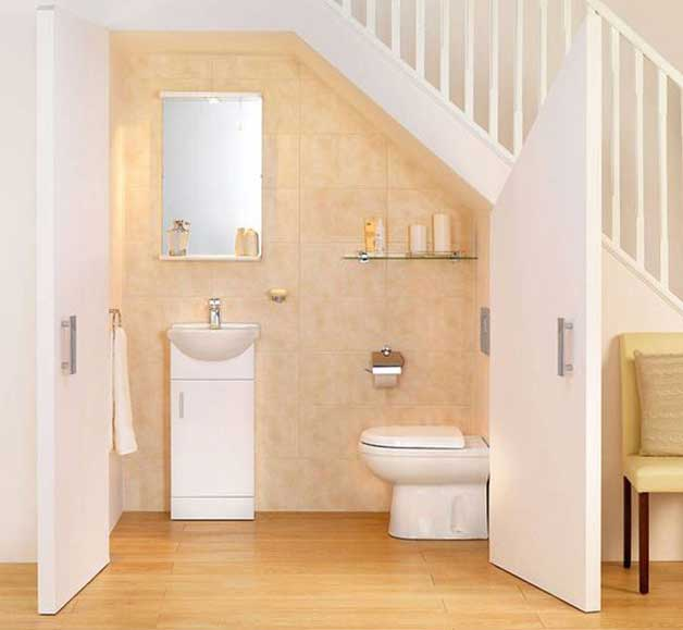 4 Cool Under Staircase Toilets And Bathrooms