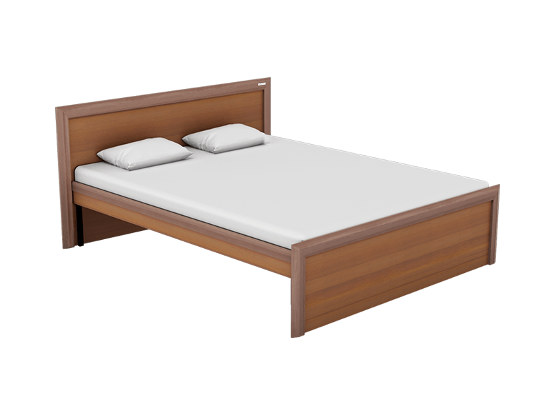 Buy Adriana Queen Size Bed Without Storage In Imperial Oak Godrej Interio