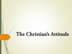 The Christian's Attitude Title Pic