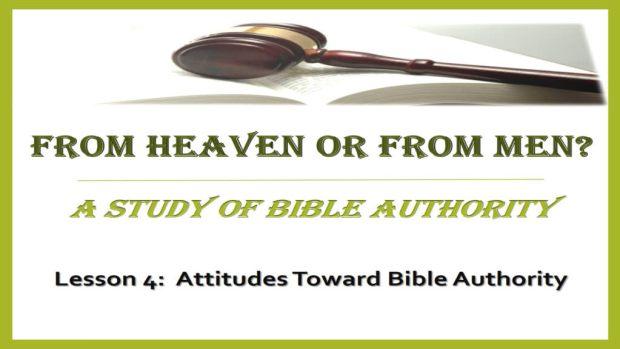 4 - Attitudes Toward Bible Authority Title Pic