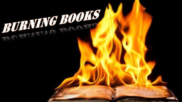 Burning Books Title Pic