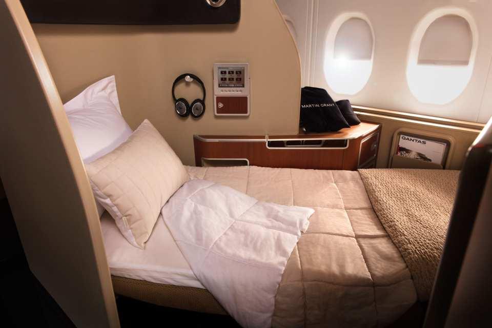 Qantas First Class Bed