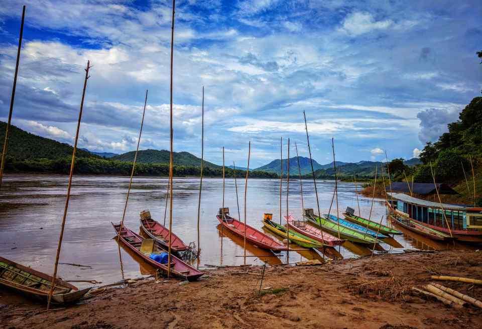River Cruise Mekong River Sunset