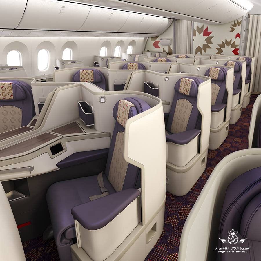 Royal Air Maroc Business Class Cabin