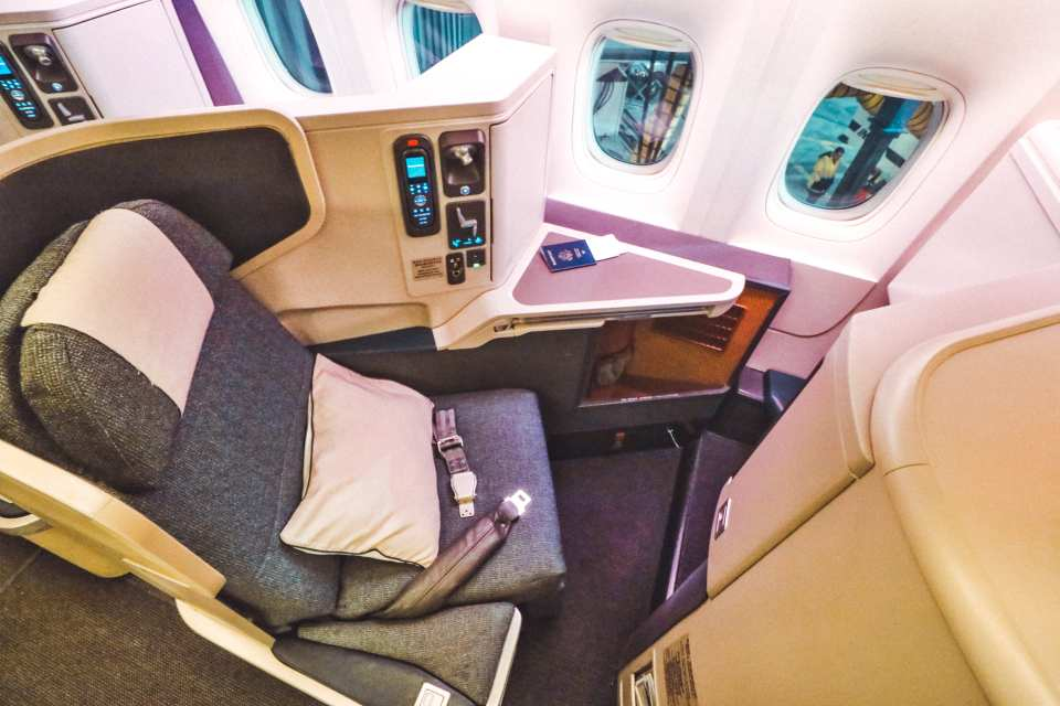 Cathay Pacific Business Class Seat B777