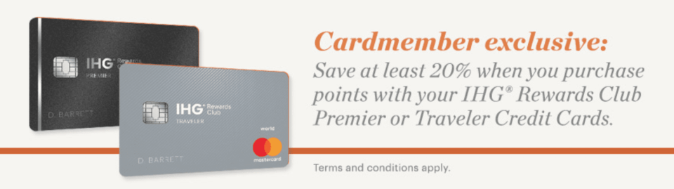 IHG 20% Discount On Points