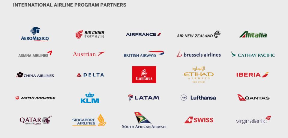 Amex International Airline Program Partners