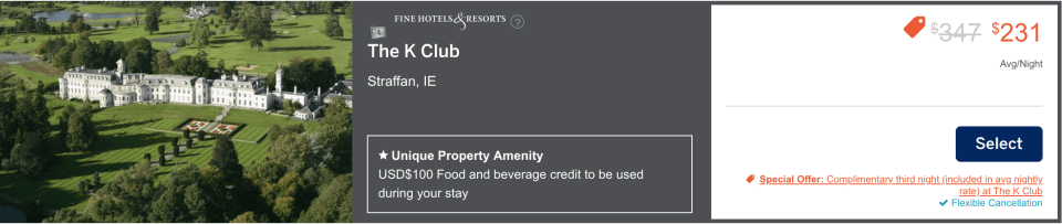 The K Club Fine Hotels And Resorts