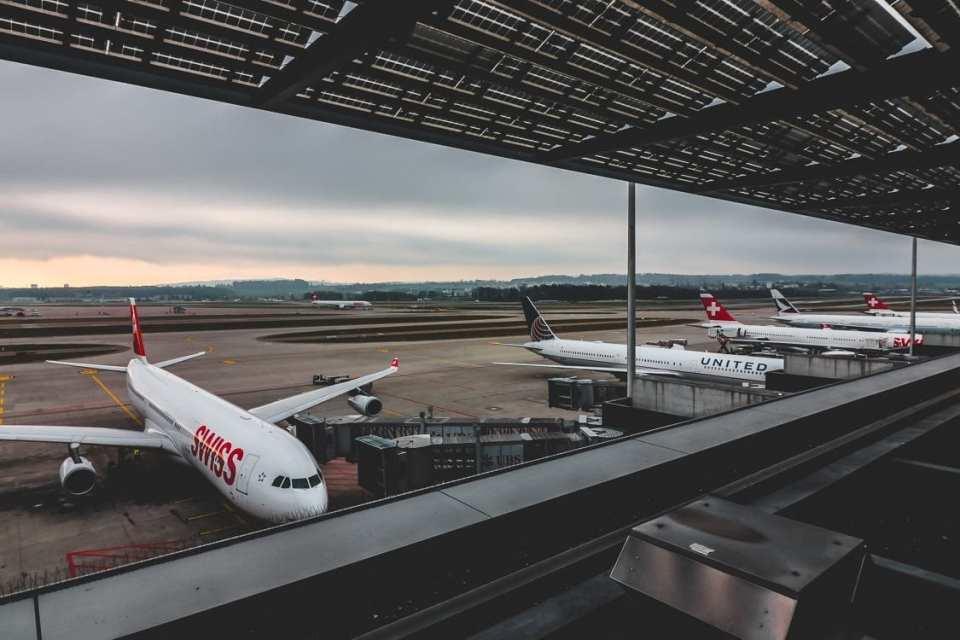 Swiss Business Class Lounge Deck View
