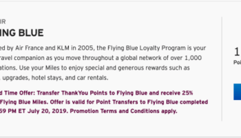 Citi Transfer Bonus To Flying Blue