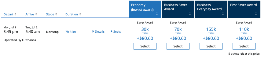 Lufthansa Taxes And Fees With United