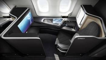 "British Airways ""new"" first class will be a modified version of this seat, with the door closed."