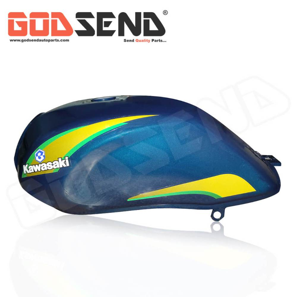 GodSend® Petrol Tank for Caliber Fuel Tank Blue yellow