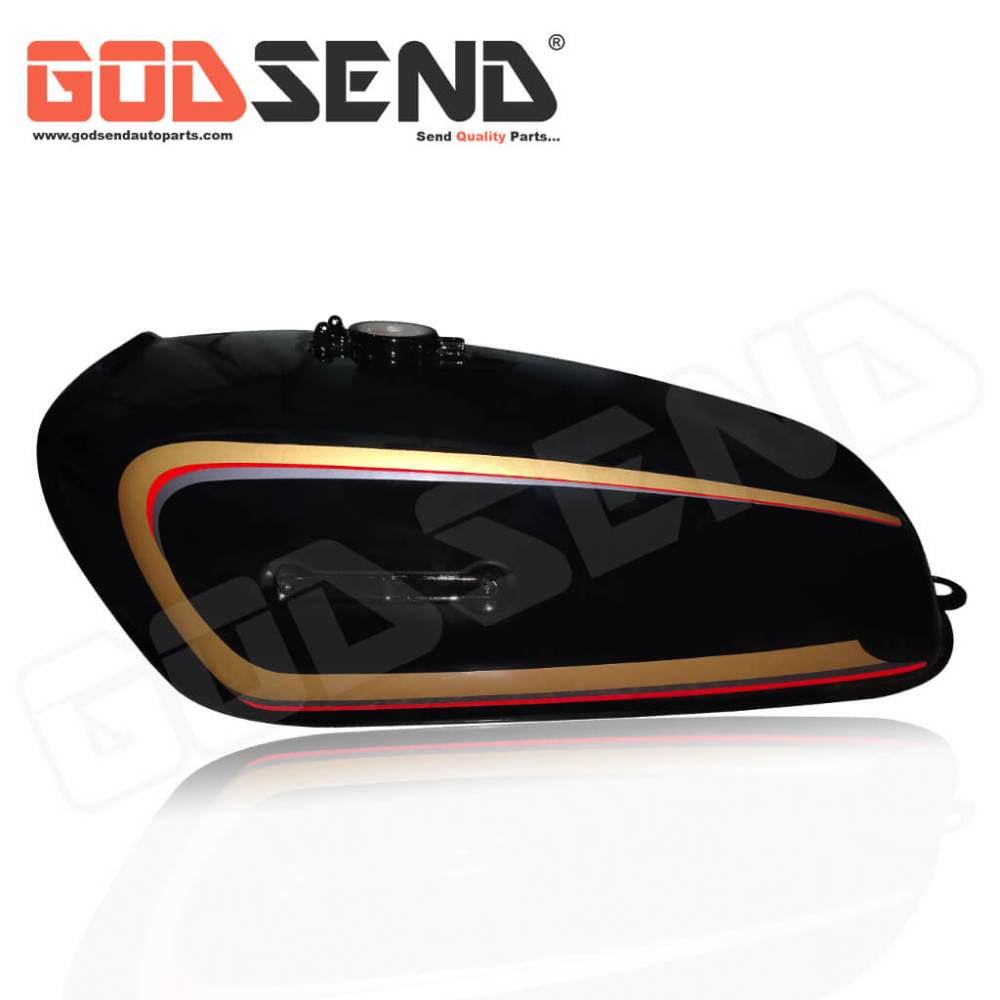 GodSend® Fuel Tank for RX 100 Petrol Tank Black Brown