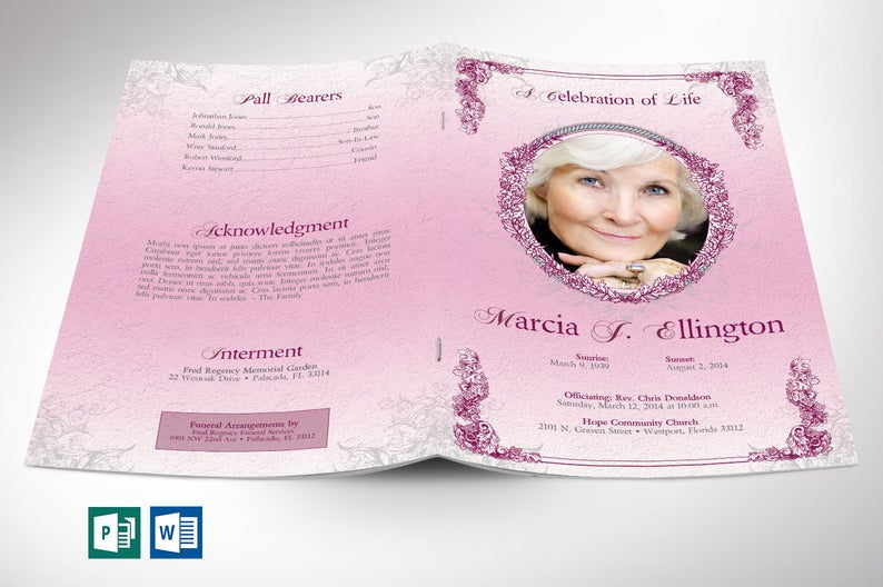 Funeral Programs Template for Women