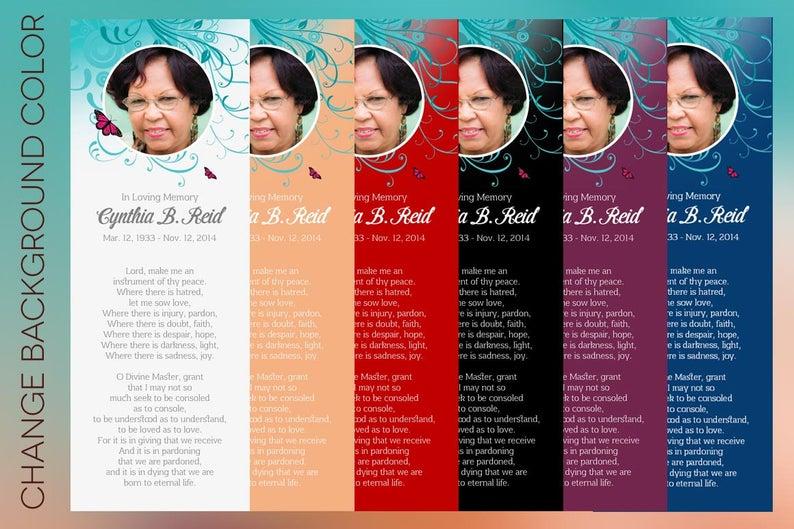 Flourish Bookmark Templates