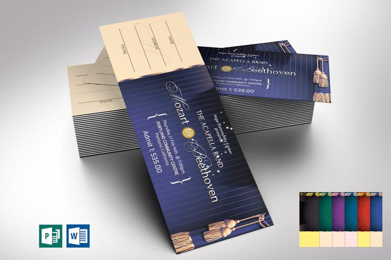 Event Ticket Publisher Word Template