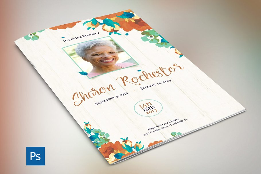 Photoshop Obituary Templates